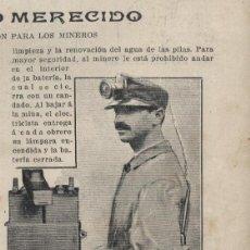 Coleccionismo de Revistas y Periódicos: * MINERÍA * LÁMPARA EDISON PARA LOS MINEROS - 1913. Lote 48661889