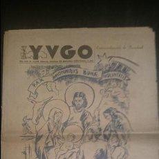 Coleccionismo de Revistas y Periódicos: YUGO NUMERO EXTRAORDINARIO 23 DICIEMBRE 1951. Lote 48726188