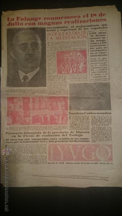 YUGO NUMERO EXTRAORDINARIO 18 JULIO 1950 (Coleccionismo - Revistas y Periódicos Modernos (a partir de 1.940) - Otros)