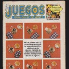 Coleccionismo de Revistas y Periódicos - JUEGOS PARA GENTE DE MENTE Nº 93 - REVISTA DE JUEGOS DE LOGICA - 48741757