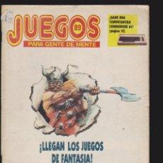 Coleccionismo de Revistas y Periódicos - JUEGOS PARA GENTE DE MENTE Nº 89 - REVISTA DE JUEGOS DE LOGICA - 48741782