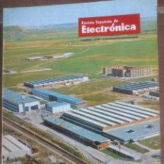 Coleccionismo de Revistas y Periódicos: REVISTA ESPAÑOLA DE ELECTRONICA. PUBLICIDAD DE EPOCA. VALVULAS, RADIOS, ETC. . Lote 48750444