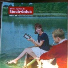 Coleccionismo de Revistas y Periódicos: REVISTA ESPAÑOLA DE ELECTRONICA. PUBLICIDAD DE EPOCA. VALVULAS, RADIOS, ETC. . Lote 48750528