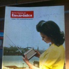 Coleccionismo de Revistas y Periódicos: REVISTA ESPAÑOLA DE ELECTRONICA. PUBLICIDAD DE EPOCA. VALVULAS, RADIOS, ETC. . Lote 48750533