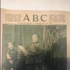 Coleccionismo de Revistas y Periódicos: ABC 27 DE SEPTIEMBRE 1939. Lote 48772254