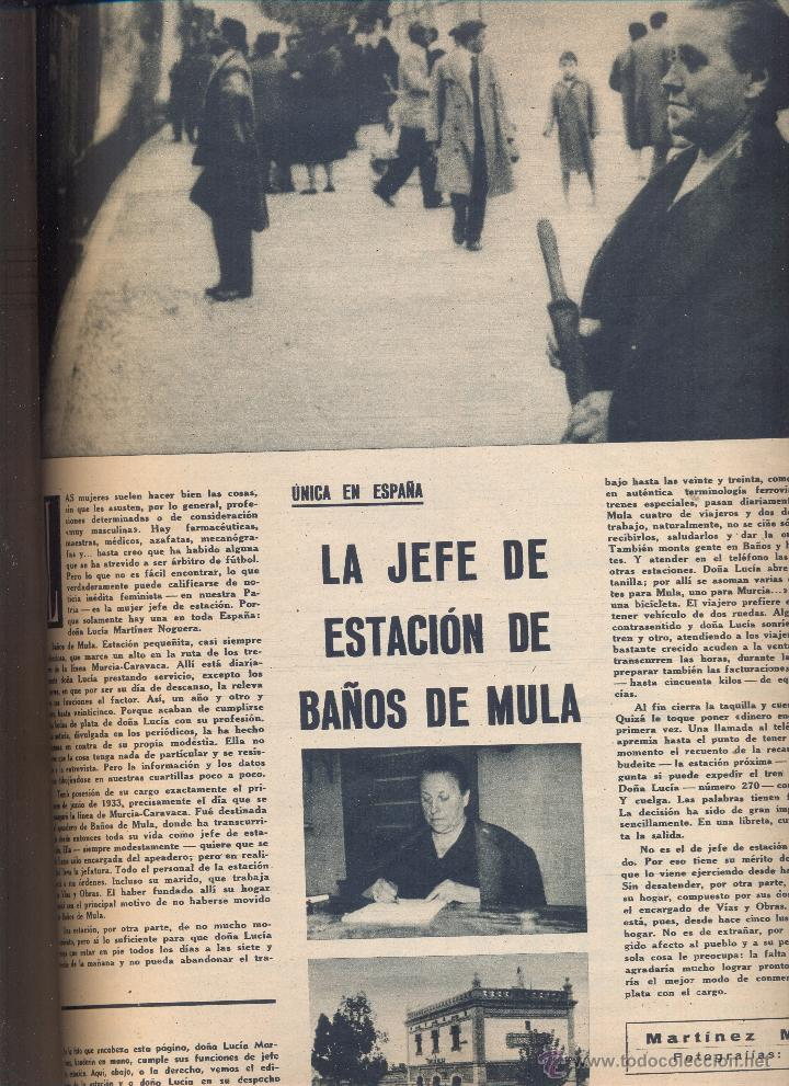 Hoja suelta a o 1958 la jefa encargada de la es comprar otras revistas y peri dicos modernos - Banos de mula el delfin ...