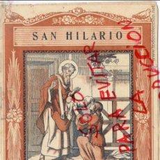 Coleccionismo de Revistas y Periódicos: SAN HILARIO 1940 EL SANTO DE CADA DIA LIBRETO 8 HOJAS APROX. 15 X 20 CM. EDIT.VIVES. Lote 48903326