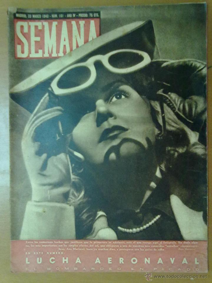 REVISTA SEMANA AÑO IV Nº 161 MARZO 1943 SEGUNDA GUERRA MUNDIAL LUCHA AERONAVAL (Coleccionismo - Revistas y Periódicos Modernos (a partir de 1.940) - Otros)