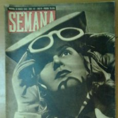 Coleccionismo de Revistas y Periódicos: REVISTA SEMANA AÑO IV Nº 161 MARZO 1943 SEGUNDA GUERRA MUNDIAL LUCHA AERONAVAL. Lote 48914145