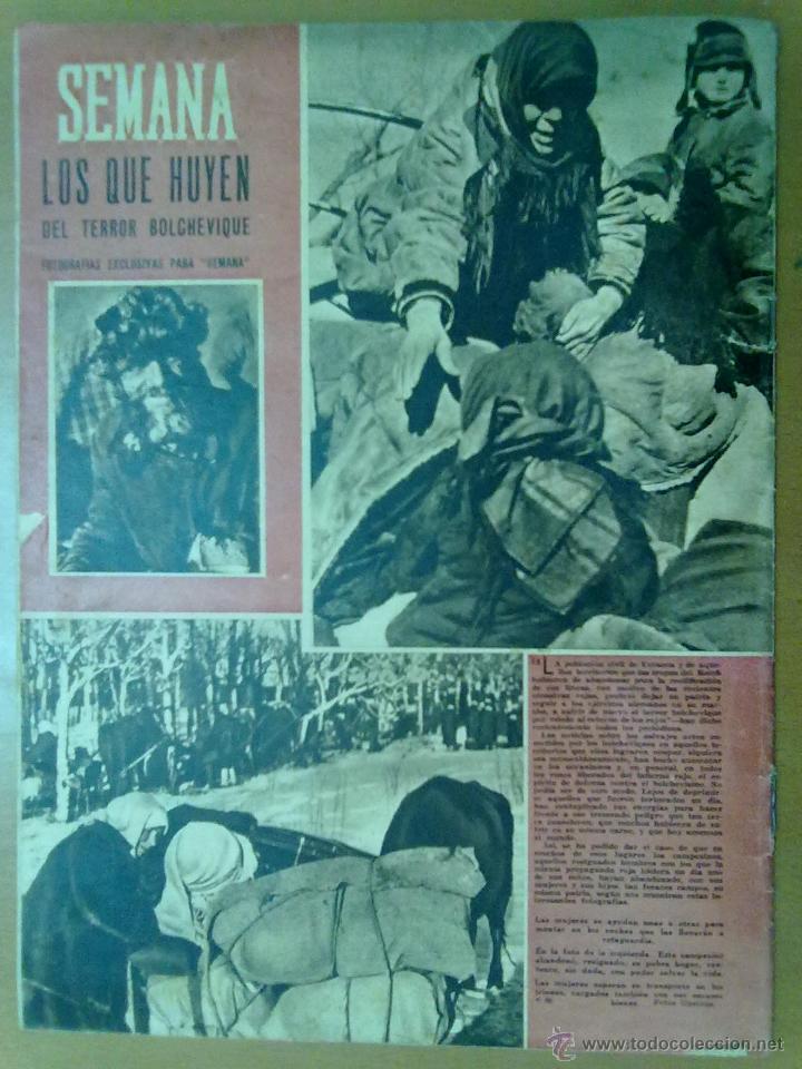Coleccionismo de Revistas y Periódicos: REVISTA SEMANA AÑO IV Nº 161 MARZO 1943 SEGUNDA GUERRA MUNDIAL LUCHA AERONAVAL - Foto 2 - 48914145