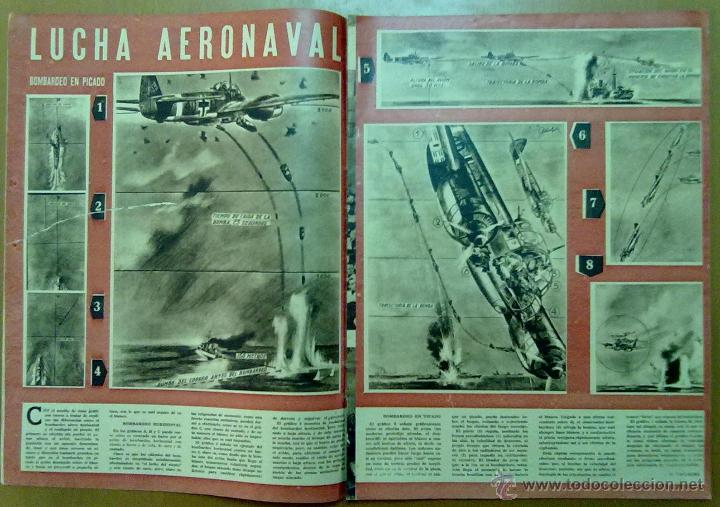 Coleccionismo de Revistas y Periódicos: REVISTA SEMANA AÑO IV Nº 161 MARZO 1943 SEGUNDA GUERRA MUNDIAL LUCHA AERONAVAL - Foto 3 - 48914145