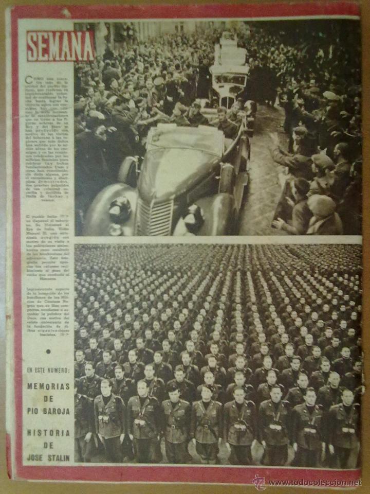 Coleccionismo de Revistas y Periódicos: REVISTA SEMANA AÑO IV Nº 159 MARZO 1943 SEGUNDA GUERRA MUNDIAL BUQUES FRANCESES HUNDIDOS EN TOLON - Foto 2 - 48918031