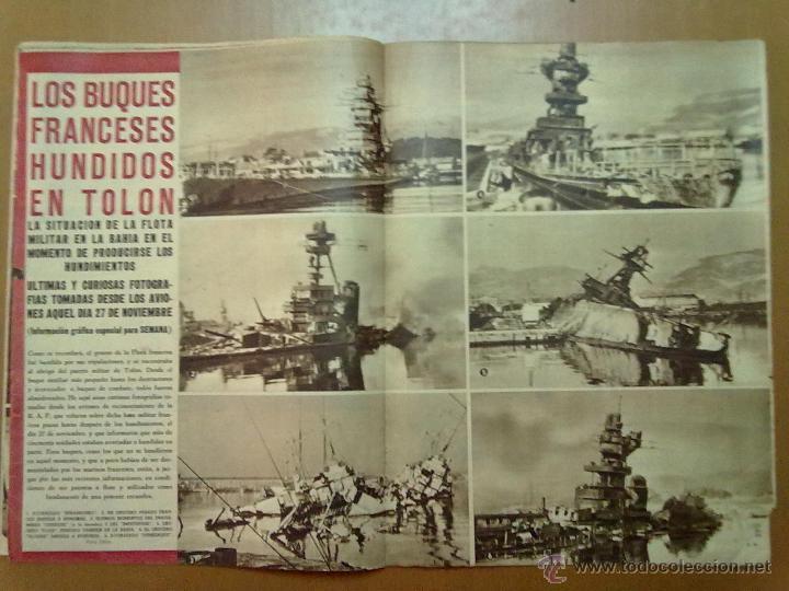 Coleccionismo de Revistas y Periódicos: REVISTA SEMANA AÑO IV Nº 159 MARZO 1943 SEGUNDA GUERRA MUNDIAL BUQUES FRANCESES HUNDIDOS EN TOLON - Foto 3 - 48918031
