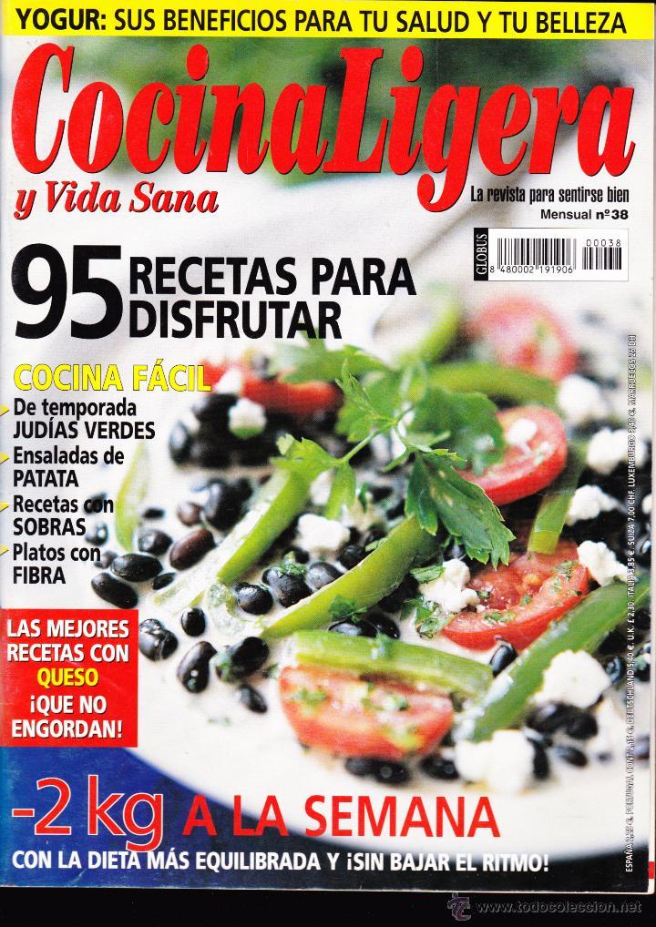 REVISTA···COCINA LIGERA Y VIDA SANA··· Nº 38 (Coleccionismo - Revistas y Periódicos Modernos (a partir de 1.940) - Otros)
