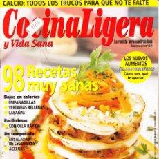 Coleccionismo de Revistas y Periódicos: REVISTA···COCINA LIGERA Y VIDA SANA··· Nº 54. Lote 48930018