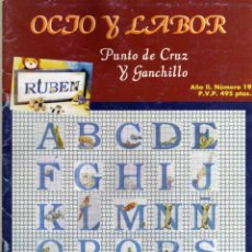 Coleccionismo de Revistas y Periódicos: OCIO Y LABOR - PUNTO DE CRUZ Y GANCHILLO - AÑO II Nº 19 . Lote 48938209