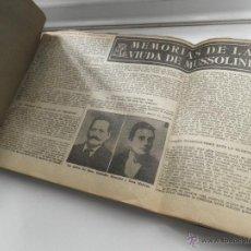 Coleccionismo de Revistas y Periódicos: MEMORIAS DE LA VIUDA DE MUSSOLINNI, RECORTABLE DEL ANTIGUO DIARIO EL CORREO CATALAN ,AÑOS 50. Lote 48961012