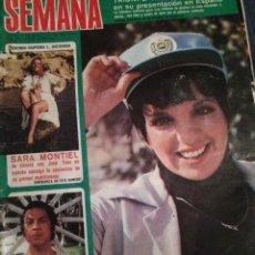 Coleccionismo de Revistas y Periódicos: REVISTA 'SEMANA', Nº 1802. 1974. LIZA MINELLI, SARA MONTIEL Y ANTONIO EL BAILARÍN EN PORTADA.. Lote 48982990
