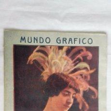 Coleccionismo de Revistas y Periódicos: MUNDO GRAFICO, REVISTA POPULAR ILUSTRADA, Nº 127, ABRIL 1914, PORTADA SRTA. GAETANA LLURO. Lote 49006651