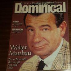 Coleccionismo de Revistas y Periódicos: EL DOMINICAL Nº 80 - 1 DE OCTUBRE 1995 - WALTER MATTHAU, DAVID BOWIE, ANGELICA HUSTON. Lote 49062064
