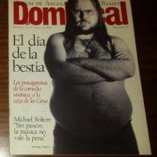Coleccionismo de Revistas y Periódicos: EL DOMINICAL Nº 96 - 21 DE ENERO 1996 - SANTIAGO SEGURA, MICHAEL BOLTON. Lote 49062115