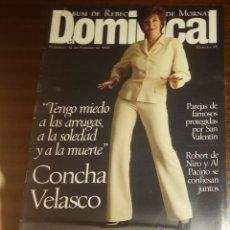 Coleccionismo de Revistas y Periódicos: EL DOMINICAL Nº 99 - 11 DE FEBRERO 1996 - CONCHA VELASCO, REBECA DE MORNAY, ROBERT DE NIRO, AL PACIN. Lote 49062208