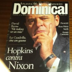 Coleccionismo de Revistas y Periódicos: EL DOMINICAL Nº 104 - 17 DE MARZO 1996 - ANTHOY HOPKINS, MIGUEL INDURÁIN, DAVID BYRNE, PAVAROTTI. Lote 49062259