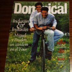 Coleccionismo de Revistas y Periódicos: EL DOMINICAL Nº 118 - 23 DE JUNIO 1996 - INDURÁIN, ELLE MACPHERSON, TOM CRUISE. Lote 49062691