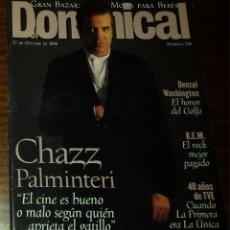 Coleccionismo de Revistas y Periódicos: EL DOMINICAL Nº 136 - 27 DE OCTUBRE 1996 - CHAZ PALMINTERI, DENZEL WASHINGTON, R.E.M.. Lote 49062819
