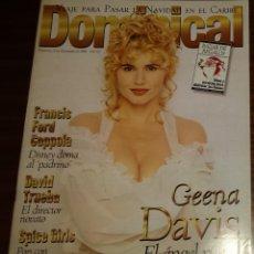 Coleccionismo de Revistas y Periódicos: EL DOMINICAL Nº 142 - 8 DE DICIEMBRE 1996 - GEENA DAVIS, FRANCIS FORD COPPOLA, DAVID TRUEBA. Lote 49062842