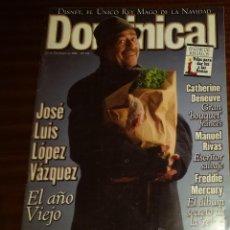 Coleccionismo de Revistas y Periódicos: EL DOMINICAL Nº 144 - 22 DE DICIEMBRE 1996 - JOSÉ LUÍS LOPÉZ VÁZQUEZ, FREDDY MERCURY, DISNEY. Lote 49062863