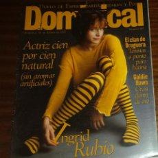 Coleccionismo de Revistas y Periódicos: EL DOMINICAL Nº 147 - 12 DE ENERO 1997 - INGRID RUBIO, CLAN BRUGUERA, GOLDIE HAWN. Lote 49062923