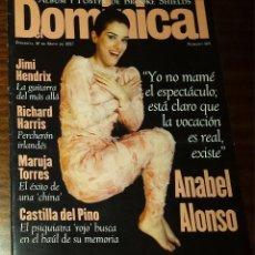Coleccionismo de Revistas y Periódicos: EL DOMINICAL Nº 165 - 18 DE MAYO 1997 - ANABEL ALONSO, JIMI HENDRIX, RICHARD HARRIS. Lote 49062971