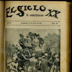 Coleccionismo de Revistas y Periódicos: REVISTA EL SIGLO XX AÑO COMPLETO 1900. Lote 49067155