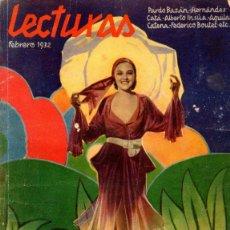 Coleccionismo de Revistas y Periódicos: REVISTA LECTURAS - AÑO XII NUM. 129 - FEBRERO DE 1932. Lote 49089821