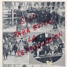 Coleccionismo de Revistas y Periódicos: SEVILLA 1920 EXPO GANADOS VISITA REYES HOJA REVISTA. Lote 49154717
