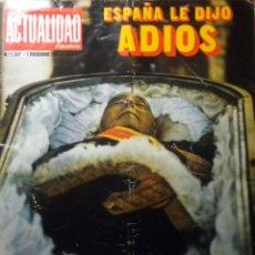 Coleccionismo de Revistas y Periódicos: REVISTA ACTUALIDAD MUERTE DE FRANCISCO FRANCO CAUDILLO. Lote 107970915