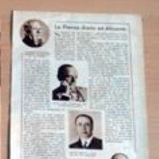 Coleccionismo de Revistas y Periódicos: PERIÓDICOS Y PERIODISTAS ALICANTE 1932 RECORTE (CV12) 1 PAGINA REVISTA BLANCO Y NEGRO 25 DIC 1932. Lote 49268402