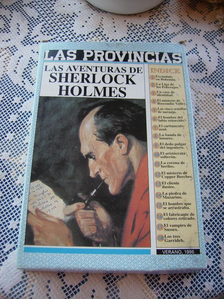 **CAJA CON LOTE DE NOVELAS DE--SERLOCK HOLMES---DEL DIARIO, LAS PROVINCIAS** (Coleccionismo - Revistas y Periódicos Modernos (a partir de 1.940) - Otros)