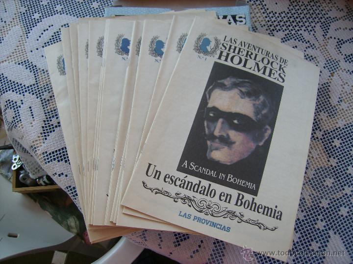 Coleccionismo de Revistas y Periódicos: **CAJA CON LOTE DE NOVELAS DE--SERLOCK HOLMES---DEL DIARIO, LAS PROVINCIAS** - Foto 2 - 49310730
