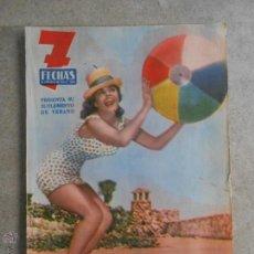 Coleccionismo de Revistas y Periódicos: REVISTA 7 FECHAS **** SUPLEMENTO DE VERANO JULIO 1960***LOS HERMANOS MARX. Lote 49341348