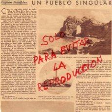 Coleccionismo de Revistas y Periódicos: CABO DE PALOS 1927 HOJA REVISTA. Lote 49362874