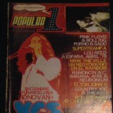 Coleccionismo de Revistas y Periódicos: REVISTA POPULAR 1 NUMERO Nº 53 DE NOVIEMBRE DE 1977 YES. Lote 49419891