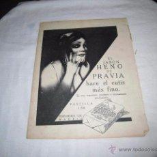 Coleccionismo de Revistas y Periódicos: PUBLICIDAD EL JABON HENO DE PRAVIA/CREME SIMON/PAUTTAUBERGE HOJA REVISTA MUNDO GRAFICO 1922. Lote 49477636