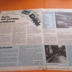 Coleccionismo de Revistas y Periódicos: ARTICULO 1979 - RENFE PERDIDAS A TODO TREN, FERROCARRIL - 3 PAG. Lote 49490784