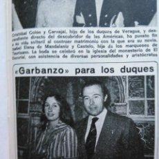 Coleccionismo de Revistas y Periódicos: RECORTE MARI CARMEN MARTINEZ BORDIU. Lote 49582259