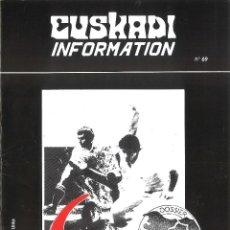 Coleccionismo de Revistas y Periódicos: REVISTA EUSKADI INFORMATION. EN FRANCÉS. AÑO 1990. Lote 49608228
