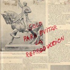 Coleccionismo de Revistas y Periódicos: REUS 1893 GENERAL PRIM Y ESCUDO ILUSTRACION HOJA REVISTA. Lote 49690202