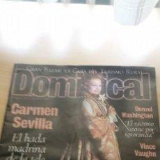 Coleccionismo de Revistas y Periódicos: EL DOMINICAL DOMINGO 24 DE ENERO DE 1999 - CARMEN SEVILLA, DENZEL WASHINGTON, VINCE VAUGHN. Lote 49701238