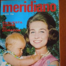 Coleccionismo de Revistas y Periódicos: JUNIO 1966. REVISTA MERIDIANO Nº 282. INFANTA CRISTINA CUMPLE 1 AÑO. SINTESIS DE LA PRENSA MUNDIAL. Lote 49771447